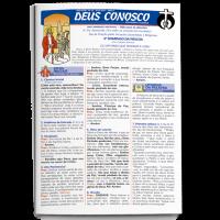Folheto DEUS CONOSCO – MISSA EM BRANCO