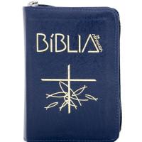 Capa da Bíblia de Aparecida - Bolso Zíper Azul