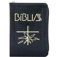 Capa da Bíblia de Aparecida - Bolso Zíper Preta