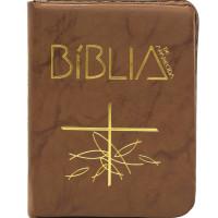 Bíblia de Aparecida - Bolso Zíper Flexível Marrom