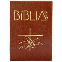 Bíblia de Aparecida - Bolso zíper marrom