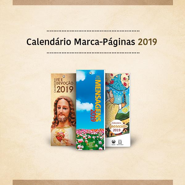 Calendário Marca-páginas 2019
