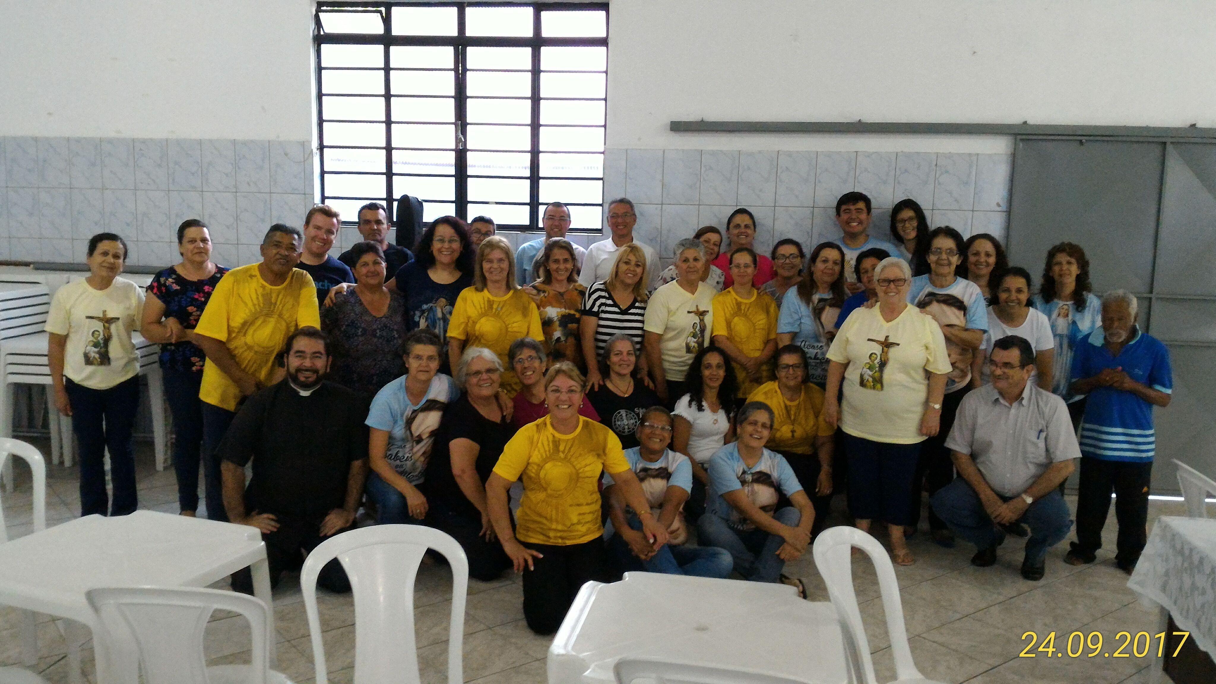 Encontro de Formação para ministros da eucaristia da Paróquia Nossa Senhora das Graças em Pindamonhangaba.